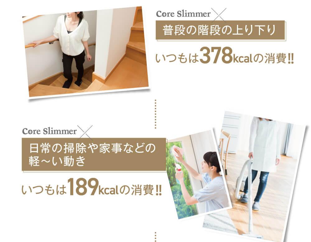 普段の階段の上り下り日常の掃除や家事などの軽~い動き 消費カロリーUP!!