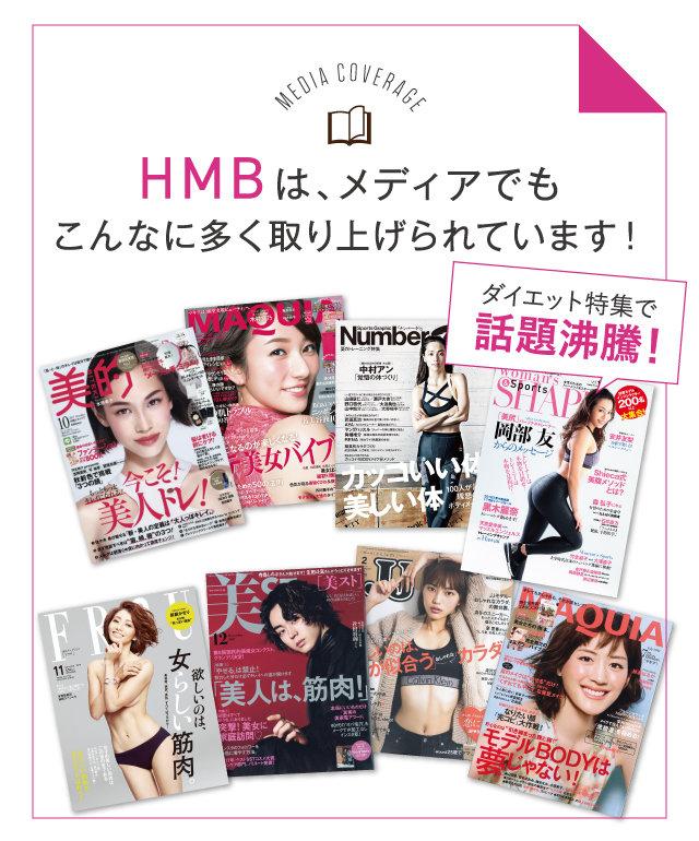 HMBは、メディアでもこんなに多く取り上げられています!