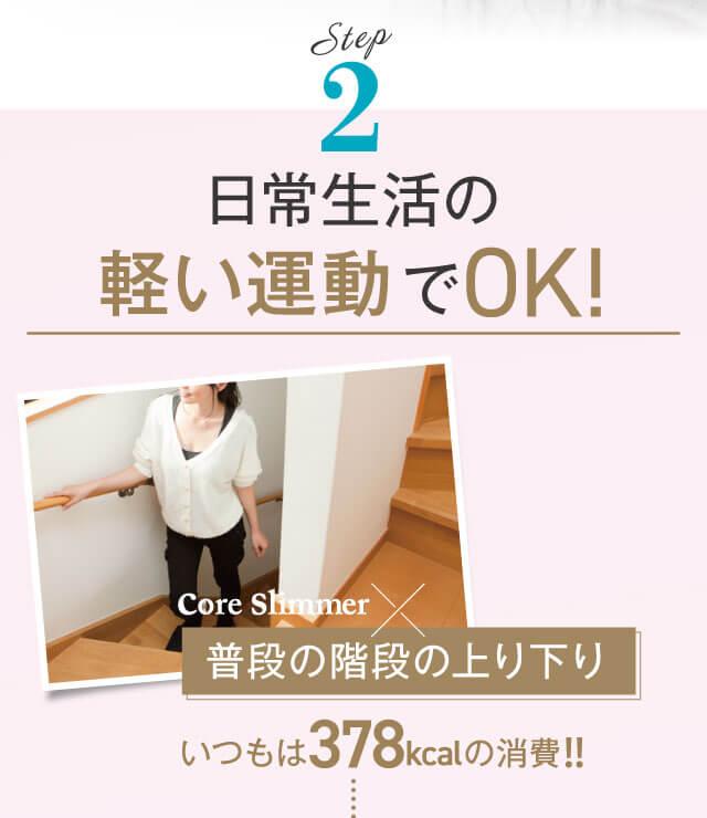 STEP2 日常生活の軽い運動だけでOK!